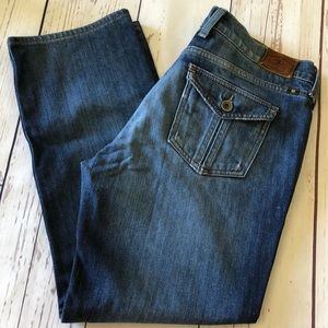 LUCKY Sweet & Straight Jeans CAPRIS sz 10 (32x26)